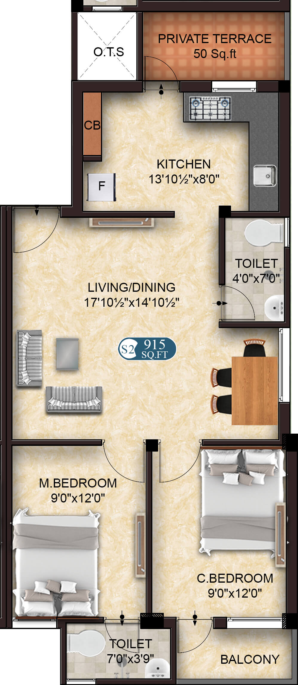 Spectra S2 2BHK 915 - Apartments/Flats Projects in Sholinganallur