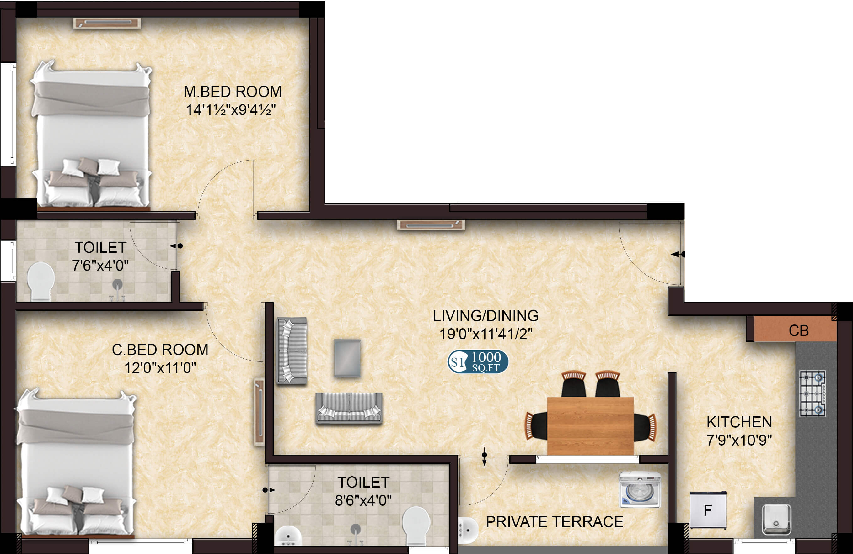 Glow S1 2BHK 1000 - Apartments/Flats for Sale in Sholinganallur